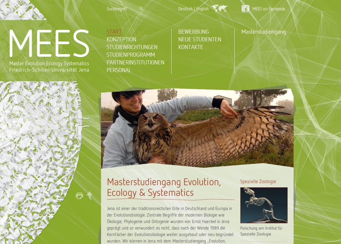Master Evolution, Ecology & Systematics | Friedrich-Schiller-Universität Jena